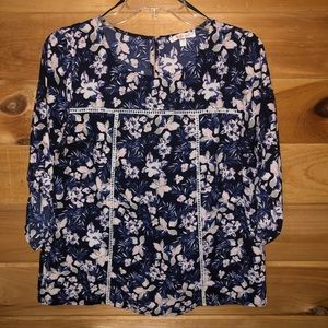 Skies are Blue Floral Blouse